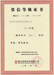质信等级证书